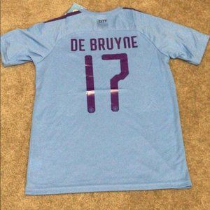 NEW De Bruyne Manchester City Home 2020 Jersey UCL